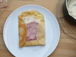 Crêpe au jambon fromage de Cyril Lignac