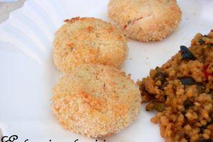 Boulettes de Crevettes au citron et poêlée de Boulgour aux petits légumes♥♥Coup de coeur
