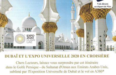 DERNIERS Jours pour la Croisiére MSC Dubaï et Expo Universelle du 21 au 29 Novembre 2020