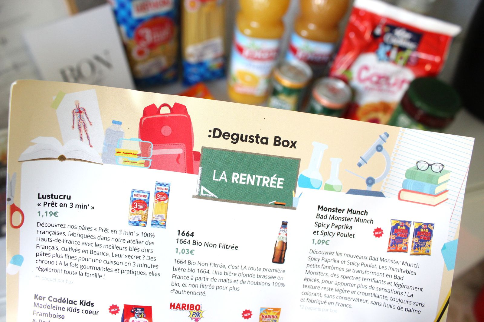 What's in the :Degusta Box : août 2020 - la rentrée