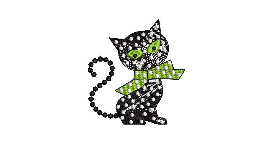 BRODERIE CHAT A POIS