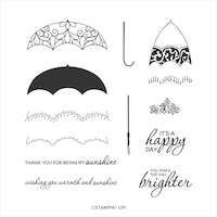 152633 Pretty parasol stampin up parapluie tampons assortie perforatrice