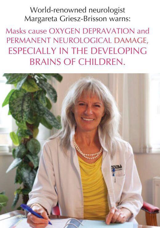 """Neuróloga alemana advierte sobre el uso de mascarillas: """"La falta de oxígeno causa daño neurológico permanente"""""""