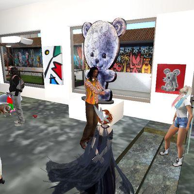 Le vernissage de la Galerie Franck Michel exposée par Moya dans SecondLife (1)
