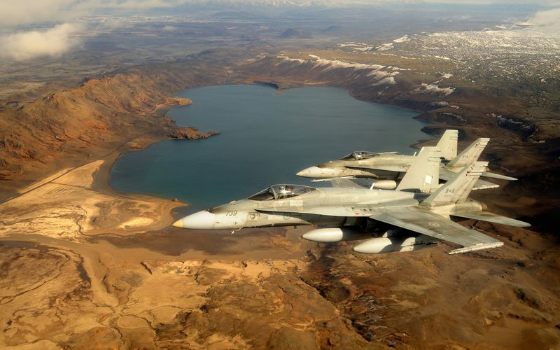 L'Aviation Royale Canadienne engage six CF-188 Hornet en Islande