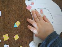 Activité enfants: la poule mosaïque
