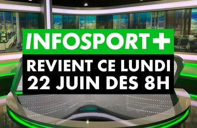 Retour de l'info sportive dès ce lundi sur Infosport+