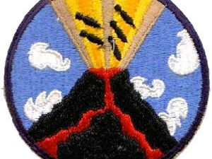 A USAF Keystone B-3A bomber - the cockpit of a Keystone LB-6  & the HighFlight VolcanoBombing badge - The 23rd bomb squadron patch, in memory of this bombing - a click to enlarge