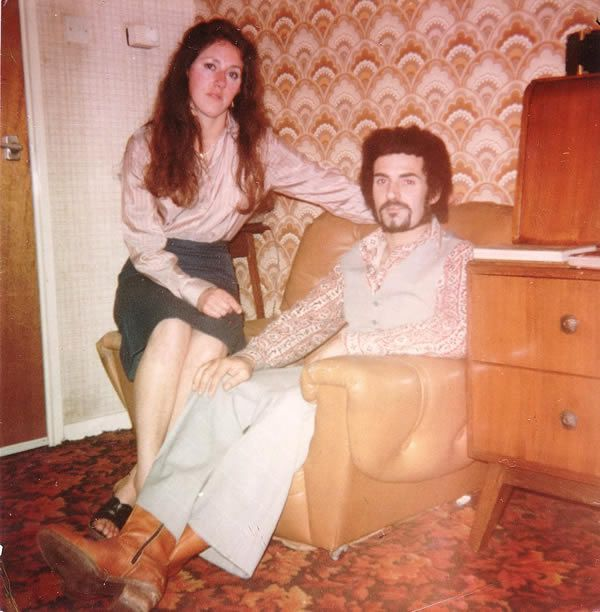 The Yorkshire Ripper, pictured at his father's home with his wife Sonia in late 1980