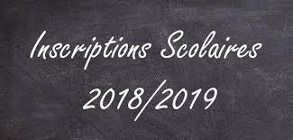 Inscriptions rentrée 2018-2019