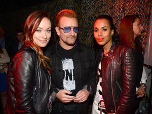 Olivia Wilde, Bono and Kerry Washington
