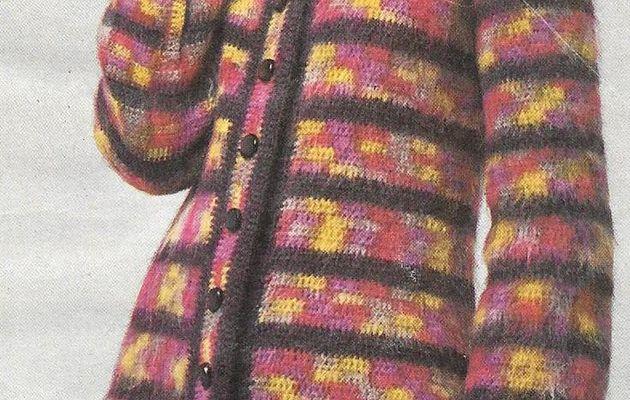 Manteau au crochet avec capuche à faire soi-même