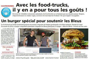L'Arrêt Gourmand - Un burger spécial pour soutenir les Bleus !