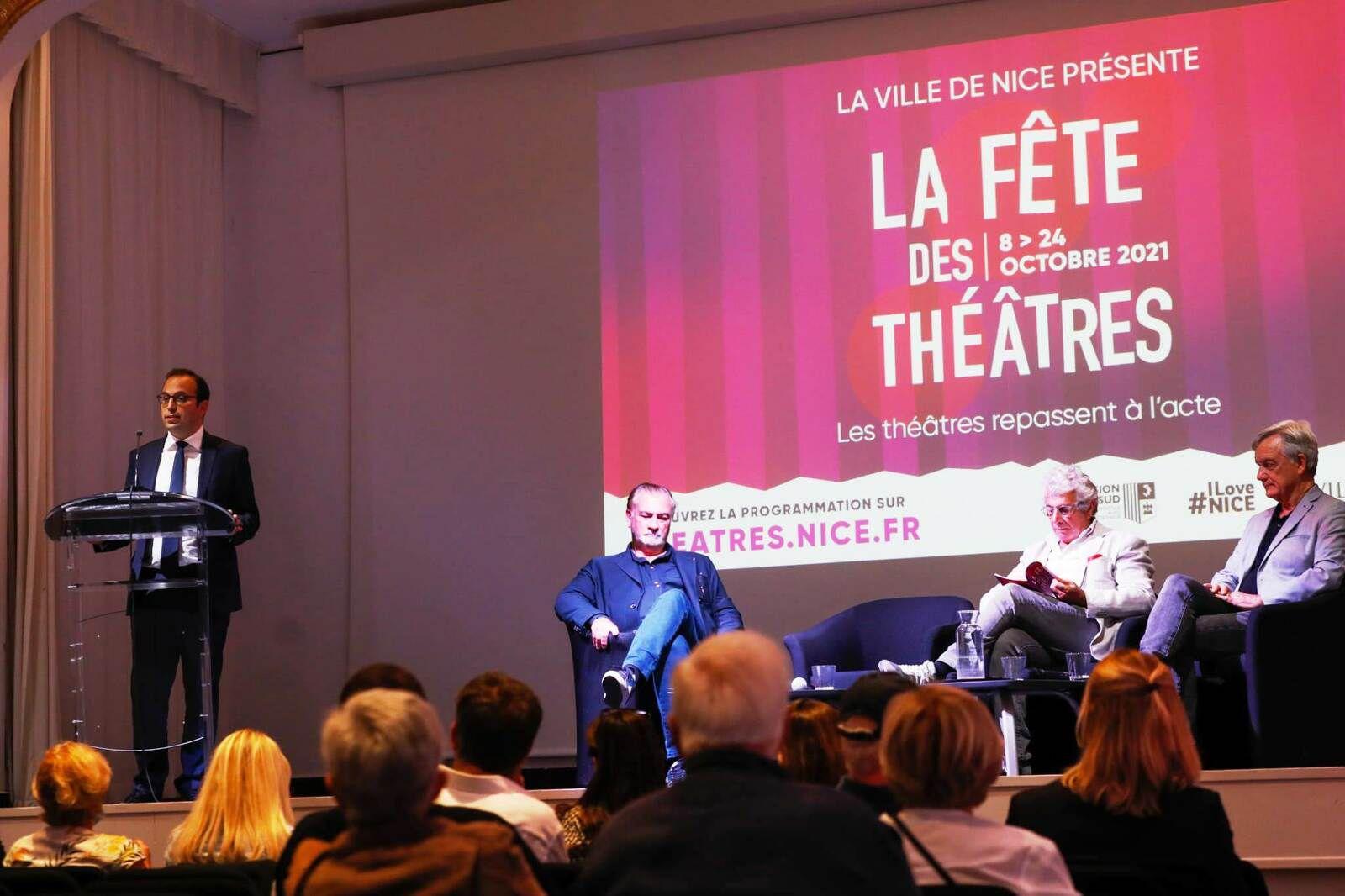 Lancement de la 7e Fête des Théâtres de la Ville de Nice (8-24 octobre 2021)