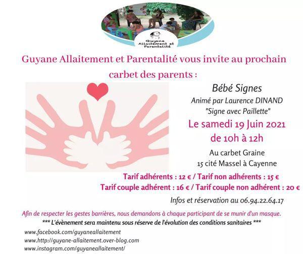 Carbet des parents - Signe avec bébé