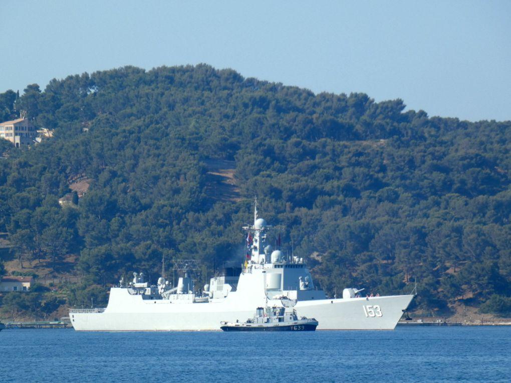 XI AN , 153 , Destroyer de la marine chinoise arrivant dans le port de Toulon le 01 juillet 2019