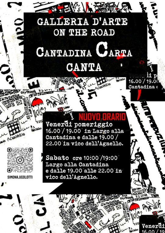 CANTADINA CARTA CANTA GALLERIA D'ARTE on the road