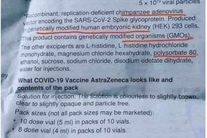 Le #vaccin #AstraZeneca contient de l'adenovirus de chimpanzé et des OGM, bon ça on le savait. Mais  il y a aussi....
