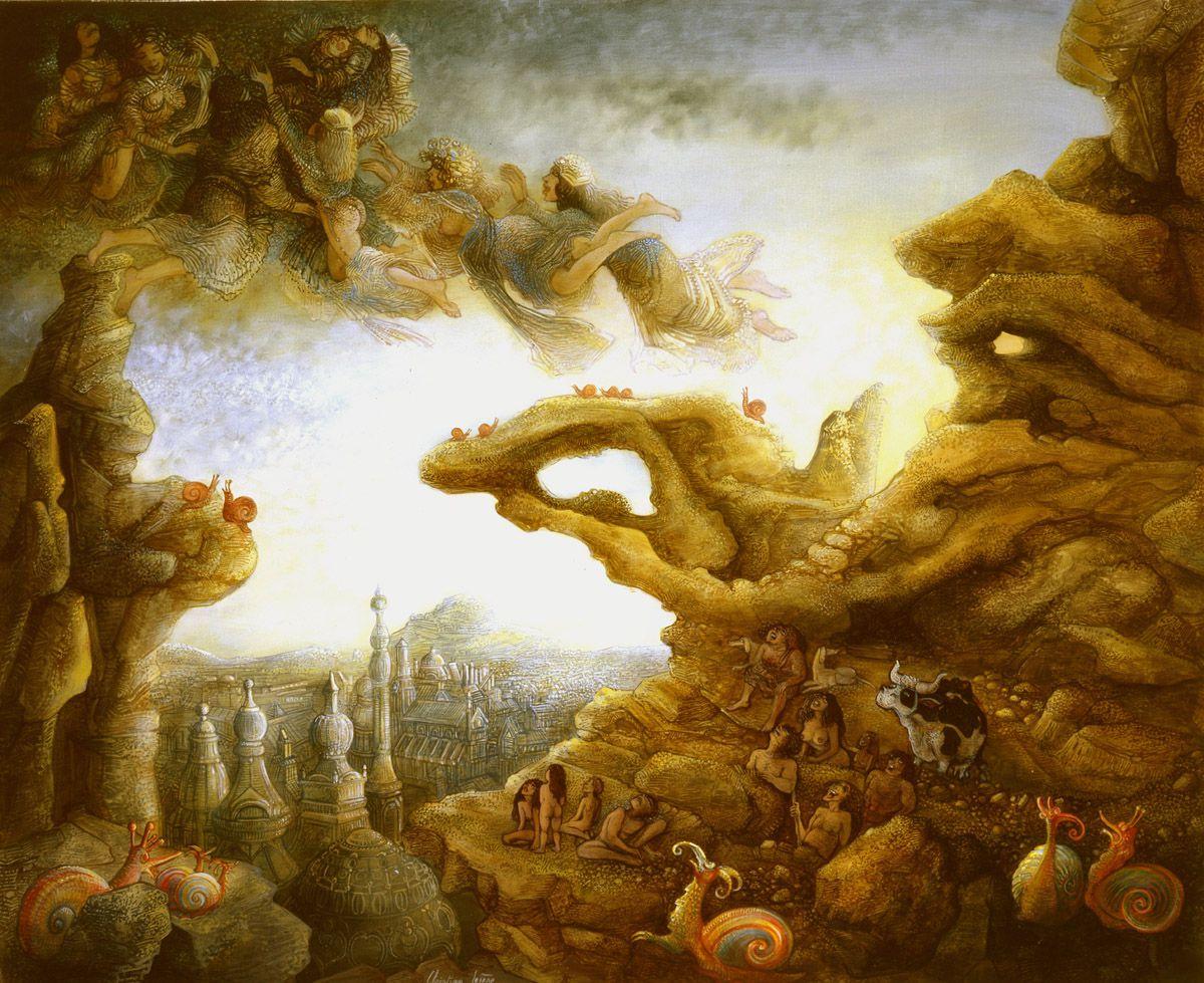 """""""Afflux de fées""""  (503) - huile sur toile - 73 x 60 cm - 2006"""