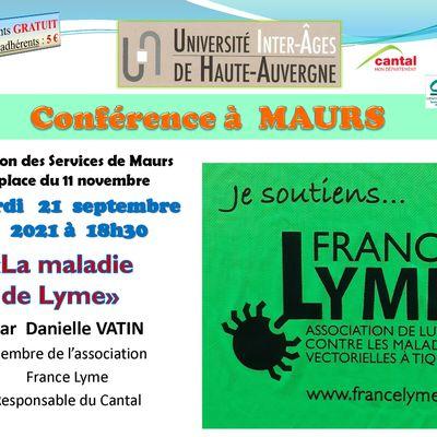 Conférence la maladie de Lyme à Maurs