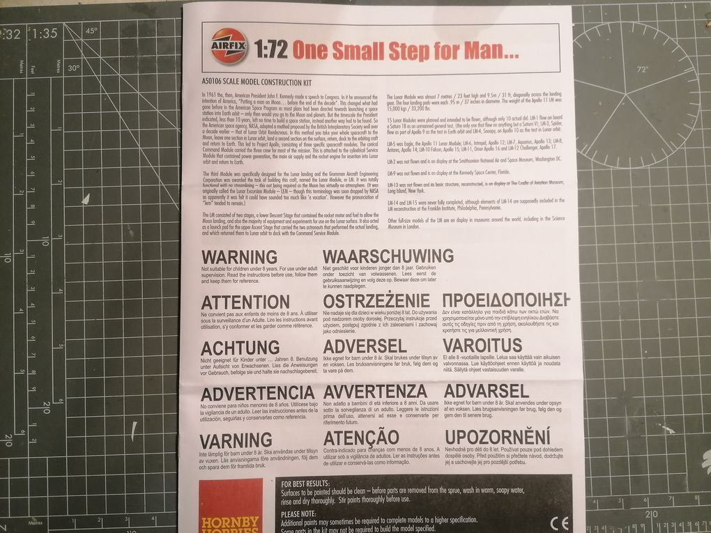 IN THE BOX: ONE SMALL STEP FOR MAN... [ AIRFIX]