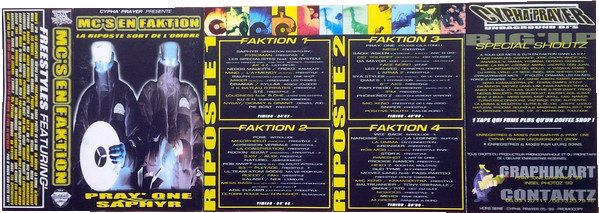 Cover mixtape MC's en Faktion volume 1 - Dj Pray One et Saphyr (1999) - le rap c'était mieux avant