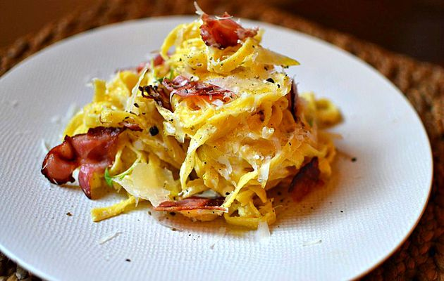Carbonara italienne traditionnelle
