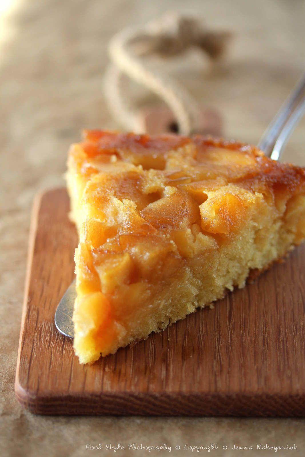 Gâteau renversé aux pommes Golden confites
