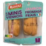 RAPPEL/Les minis viennois jambon fromage frais Monique Ranou