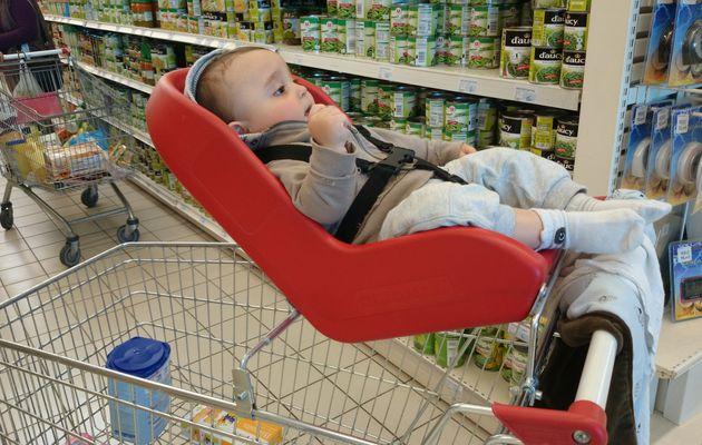 Siège coque et Caddie, faire les courses avec bébé