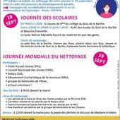 Journée mondiale de nettoyage de la planète - 19 sept à Pibrac - Ensemble paroissial du Courbet