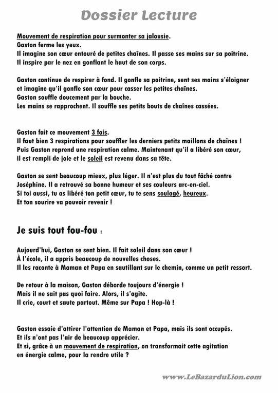 Gaston la Licorne : Mes Émotions [Dossier Lecture][Émotions][Maternelle][CP]