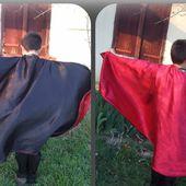 Tuto couture facile : la cape double face pour se déguiser en presque tout (gratuit - free pattern)