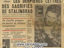 «Le secret de Bonati / Les dernières lettres des sacrifiés de Stalingrad», Candide, 1/2/1962.