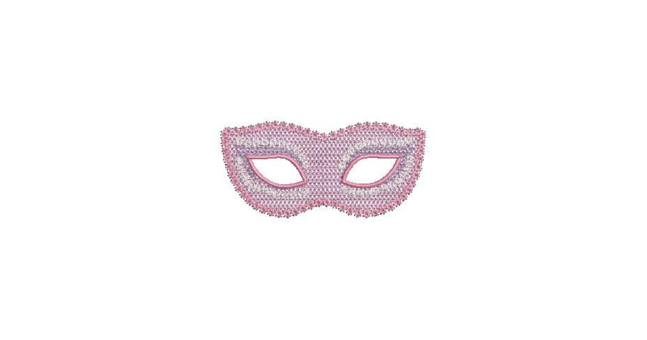 BRODERIE MASQUE ROSE