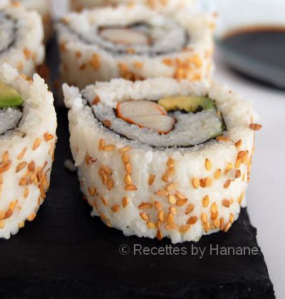 California rolls au surimi (étapes en images)