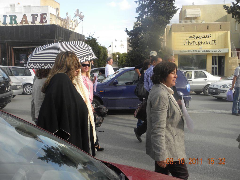 manif organisée le 08.10.2011 par des femmes indépendantes contre le port du niqab