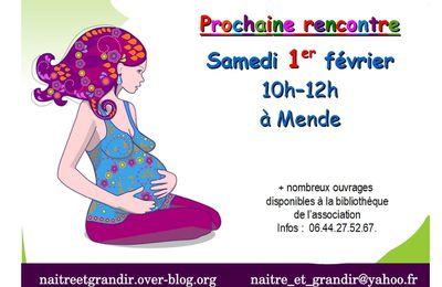 Prochain rendez-vous allaitement le 1° février à Mende