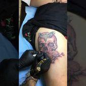 tatouage crane cuisse