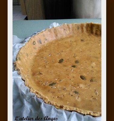 Pâte brisée à l'huile d'olive et aux graines