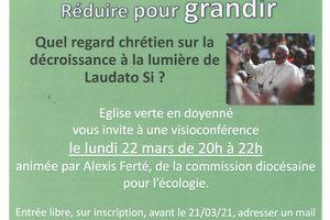 Eglise verte en doyenné : Visio conférence le lundi 22 mars à 20h