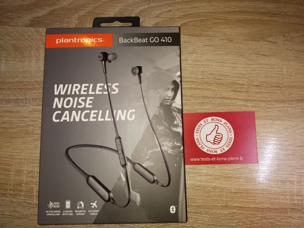 unboxing casque tour de cou à écouteurs intra-auriculaires Bluetooth Plantronics BackBeat GO 410 @ Tests et Bons Plans