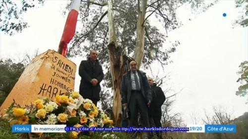 Reportage France 3 Côte D'Azur de la rencontre de la Mémoire sur le thème « une stèle pour Sophia » à Valbonne (06)