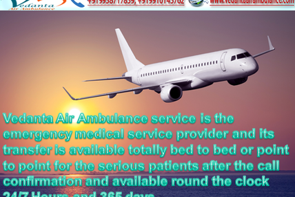 Infectious Diarrhea suffering patient Evacuated from Allahabad to Delhi by Vedanta Air Ambulance