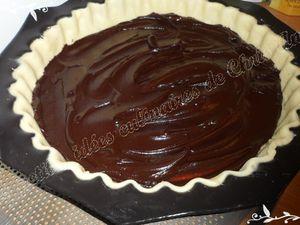 Tarte amandine poire / chocolat