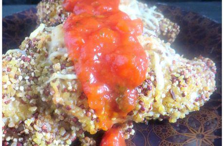 Poulet panés au quinoa et boulgour