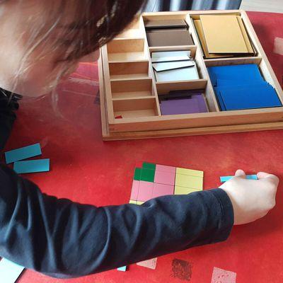 Nombres au carré ou au cube et table de Pythagore sensorielle