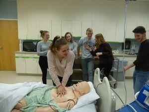 Massage cardiaque et entraînement à une opération par endoscopie