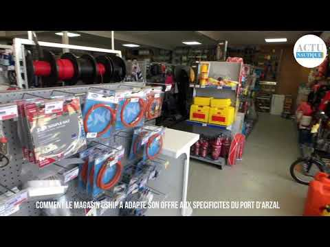 Arzal (56) - comment le magasin Uship s'est adapté aux spécificités du port de plaisance d'Arzal