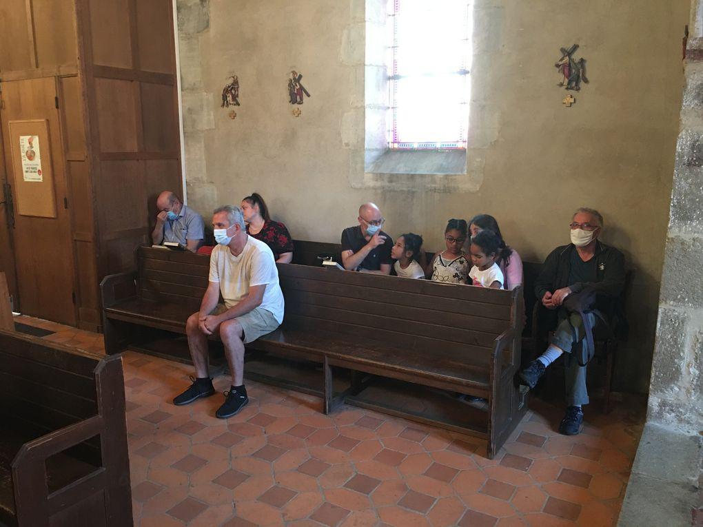 Messe du 18/07/2021 - Baptême de Inès PEGON, Présentation de Saint Charbel Makhlouf par Johny TAYAR, Bénédiction et Installation de l'image.